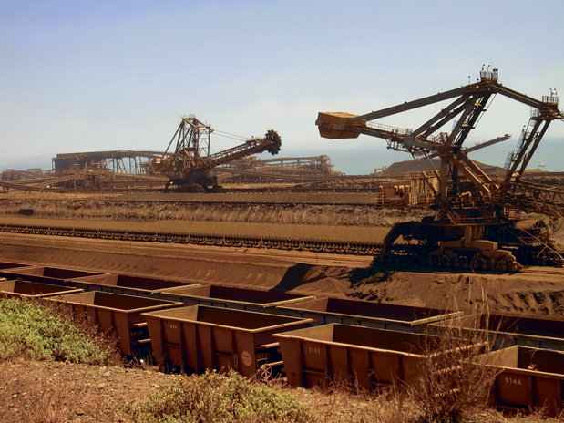 Ore unloading at the Port of Dampier (Australia)