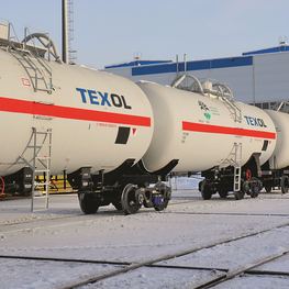 First articulated tank car fleet in the CIS